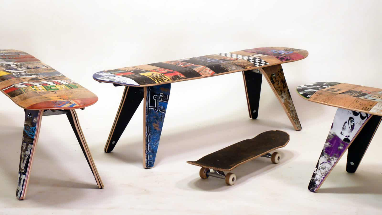 This furniture company turns skateboards into stools for Furniture companies