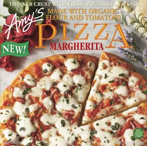 healthy frozen pizza - amy's
