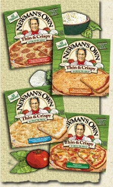 healthy frozen pizza - newman's