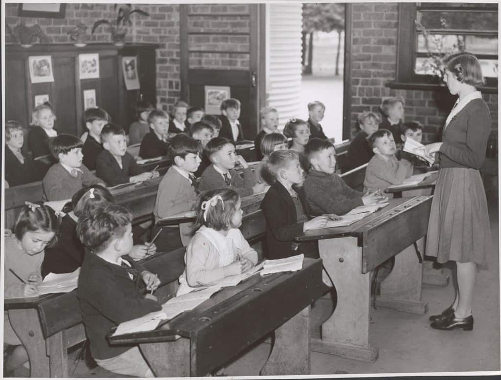 Pupil in the classroom