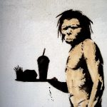fast food caveman