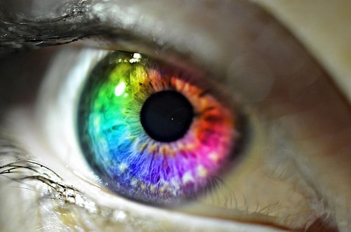 law of attraction - rainbow eye