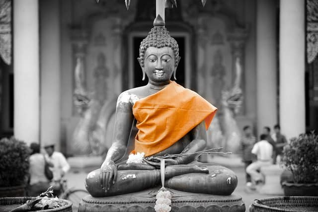 mindfulness - buddha in orange