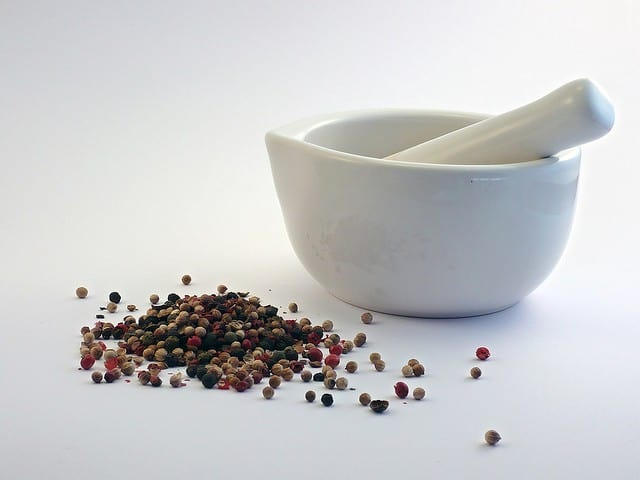 mortar pestle natural supplements