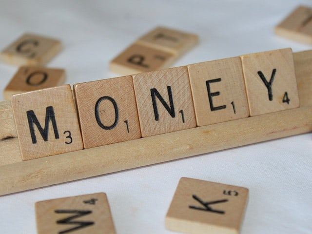money mindset - scrabble word