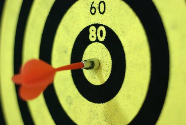 set your goals - bullseye