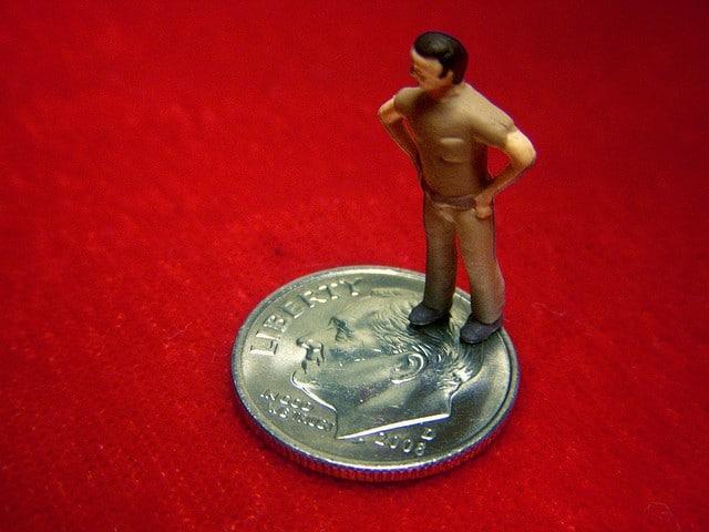 the rich get richer - man on a dime