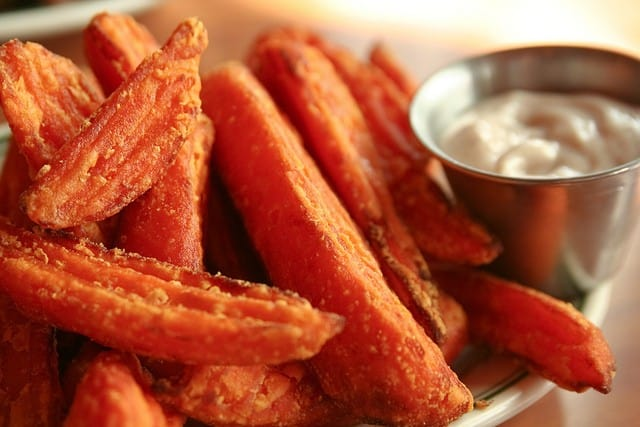 healthy food substitutions - sweet potato fries
