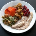 stick to your diet - turkey dinner plate