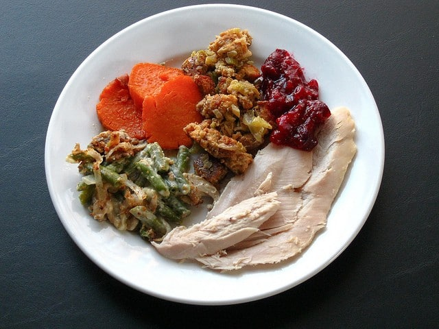 stick to your diet - turkey dinner plate