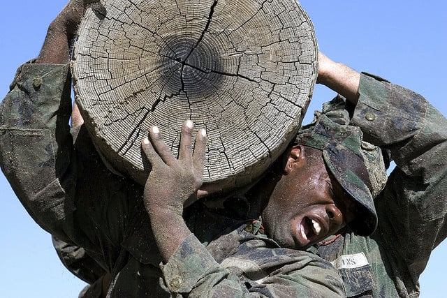 navy seal - log training