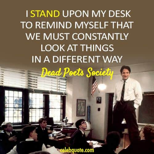robin williams - desk dead poets