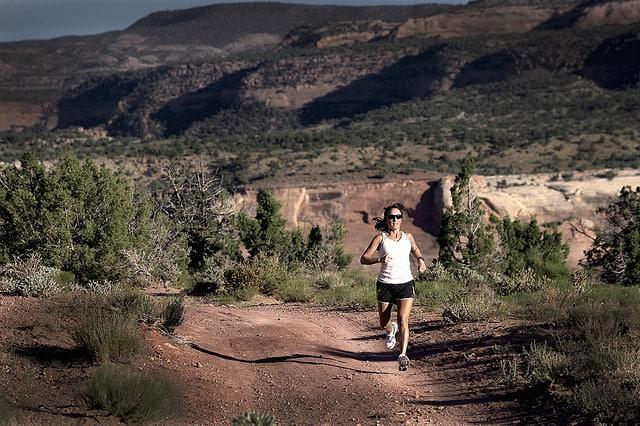 Trail Running Stock