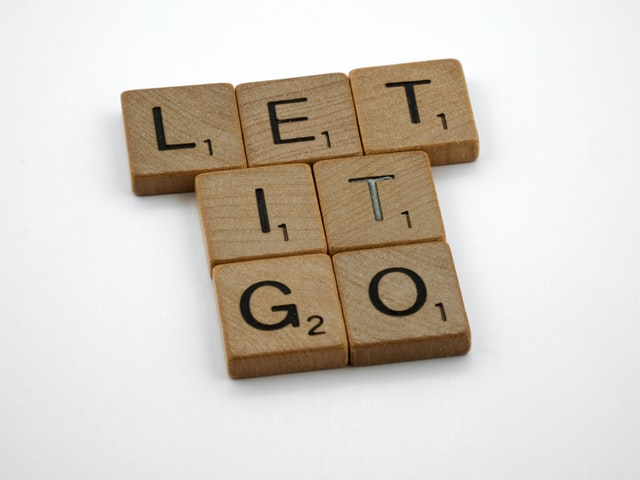 Let it go live life with no regrets